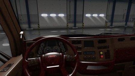 Салон Peterbilt 579  Lux v3  для American Truck Simulator