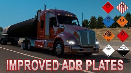 Улучшенные таблички ADR для American Truck Simulator