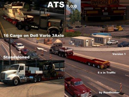 Прицепы - Doll Vario 3 Axle для American Truck Simulator