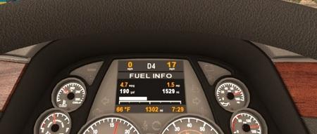 Приборная панель Peterbilt 579 для American Truck Simulator