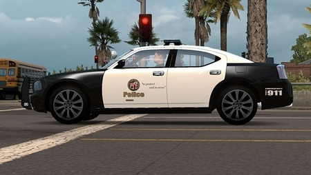 Police Dodge Charger в трафик для American Truck Simulator