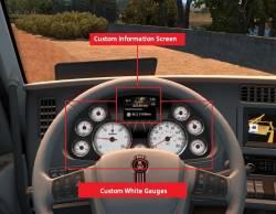 Кожаный интерьер + датчики Kenworth T680 для ATS