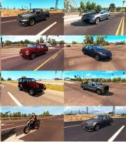 Легковой трафик от Jazzycat для American Truck Simulator