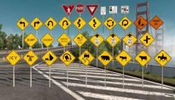 Дорожные знаки для American Truck Simulator