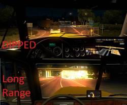 Галогеновый свет фар для American Truck Simulator