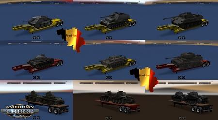 Прицепы World Of Tanks для American Truck Simulator