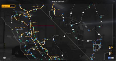Карта MHAPro map для American Truck Simulator