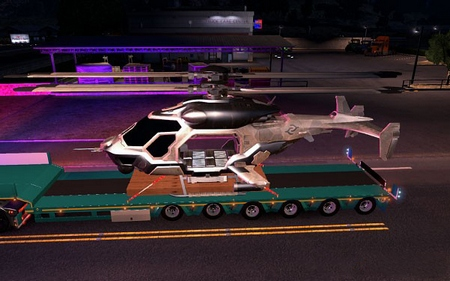 Прицеп AH 50 Cell Helicopter Skin для American Truck Simulator