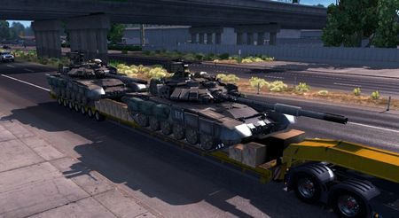 Mod Прицеп T-90A Танки для American Truck Simulator