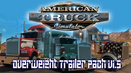 Mod Пак прицепов Overweight для American Truck Simulator