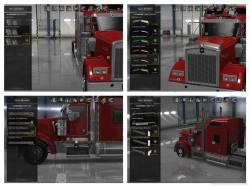 Mod аксессуары Kenworth W900 для American Truck Simulator