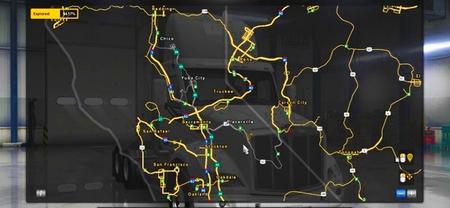 Mod Карта US 50 & CA 99 Extensions для American Truck Simulator