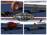 Mod Прицепы Fontaine pack для American Truck Simulator