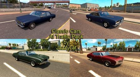 Mod Пак американской классики в трафик от Jazzycat ATS