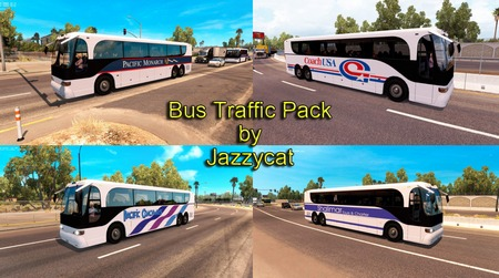 Mod Пак автобусов в трафик от Jazzycat для ATS