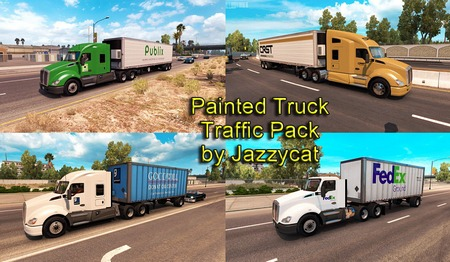 Mod Painted Truck and Trailers от Jazzycat для ATS