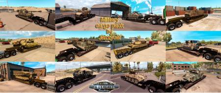 Mod Пак прицепов с военной техникой Jazzycat для ATS