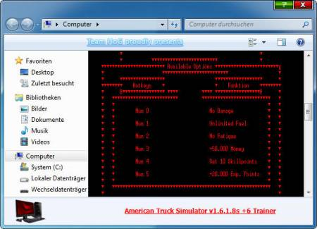 American Truck Simulator Trainer +6 v1.6.1.8s {HoG}