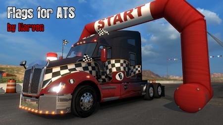 Mod Анимированные Флаги для American Truck Simulator