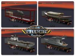 Mod Прицепы Flatbed pack для American Truck Simulator