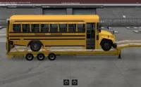 Mod Прицеп с автобусом для American Truck Simulator